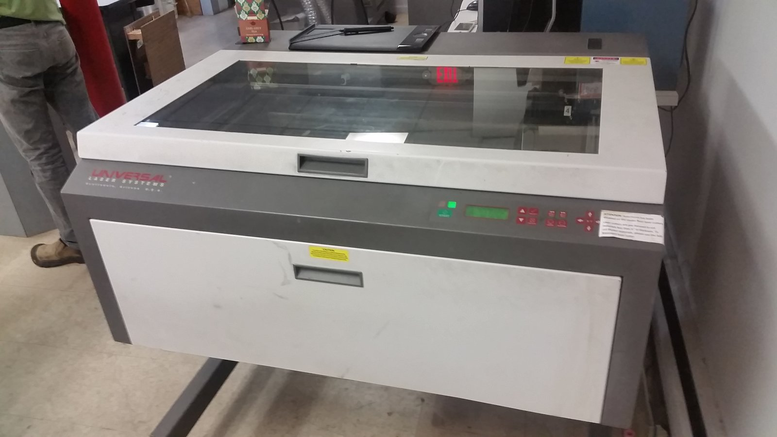 Laser cutter 60 watt universal laser systems x2 makehaven for Universal laser systems