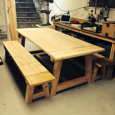 Terrific Farm Table Makehaven Machost Co Dining Chair Design Ideas Machostcouk