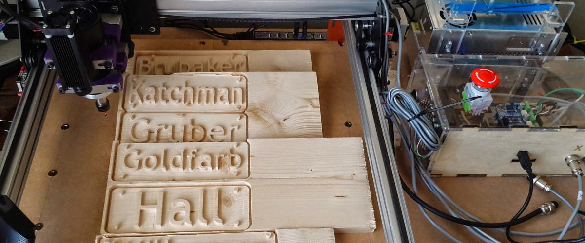 We Have A Shapeoko CNC Will Which Can Many Designs Into Wood And Other Materials Great Place To Start Is Thinking About Makeing Name Plaque Or Even
